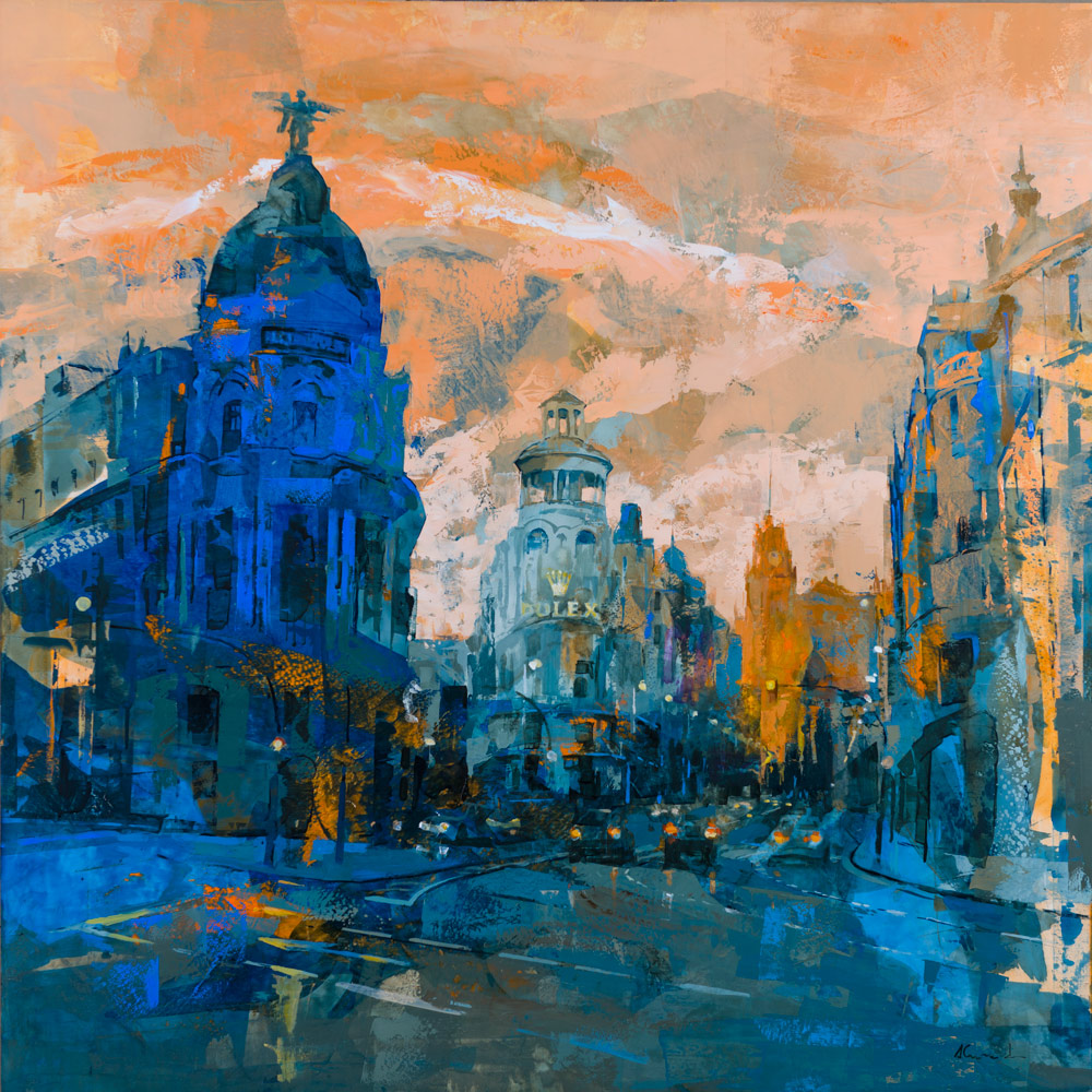 Gran Via de Madrid - 100x100 cm